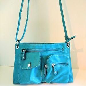 Bright blue aqua purse shoulder bag